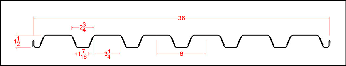 Composite Decking 18GA & 20GA